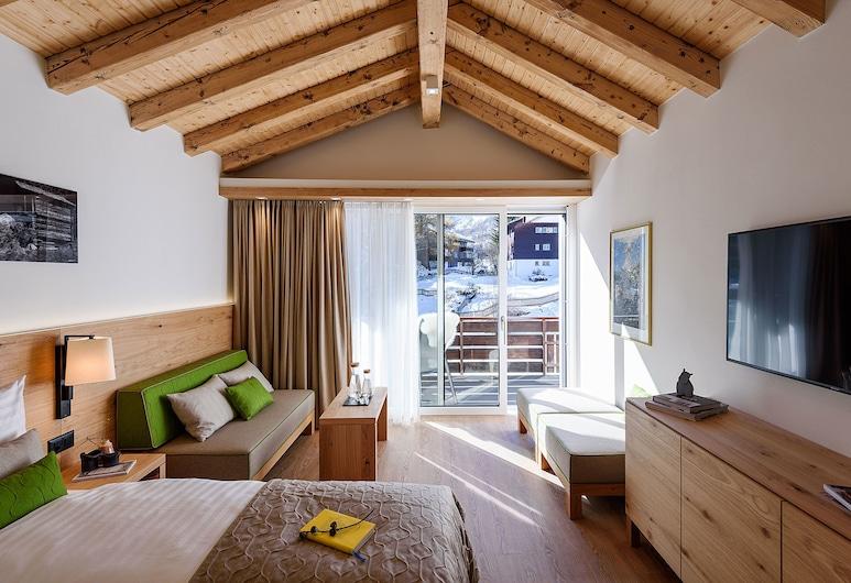 Serviced Apartment Eva, Zermatt, Comfort Apartment (No 14), Ruang Tamu