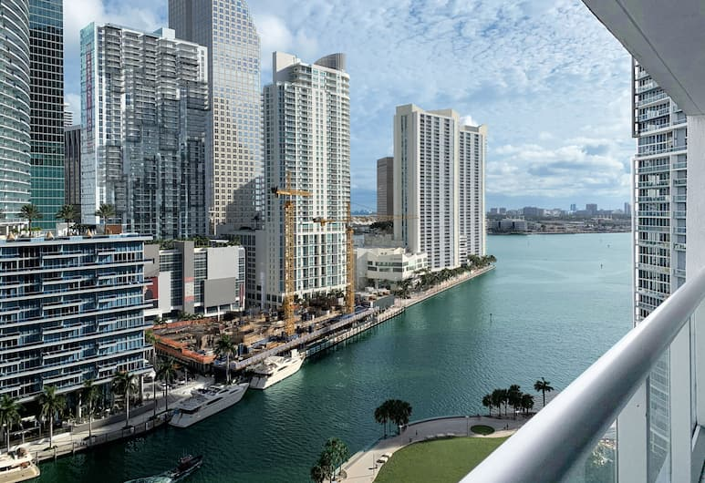 Icon Brickell Miami T-3, Miami, Premier-Apartment, 1 Schlafzimmer, Poolzugang, Meerblick, Strand-/Meerblick