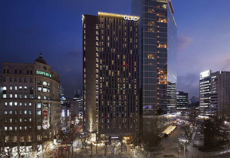 GLAD Gangnam COEX Center, Seulas, Viešbučio fasadas