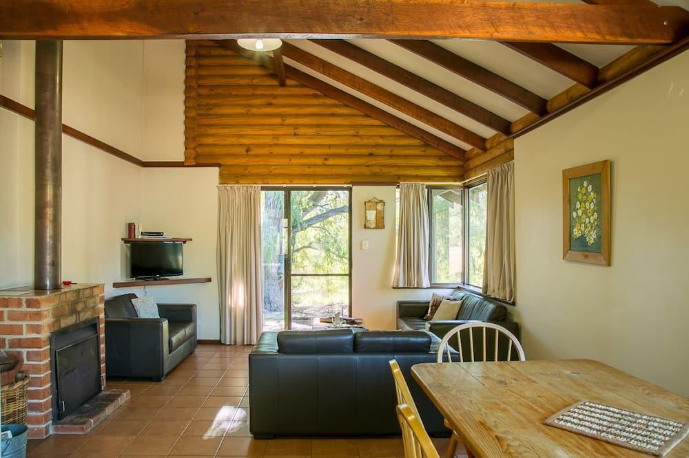 Casa de campo, 2 habitaciones, con acceso para silla de ruedas, chimenea - Sala de estar