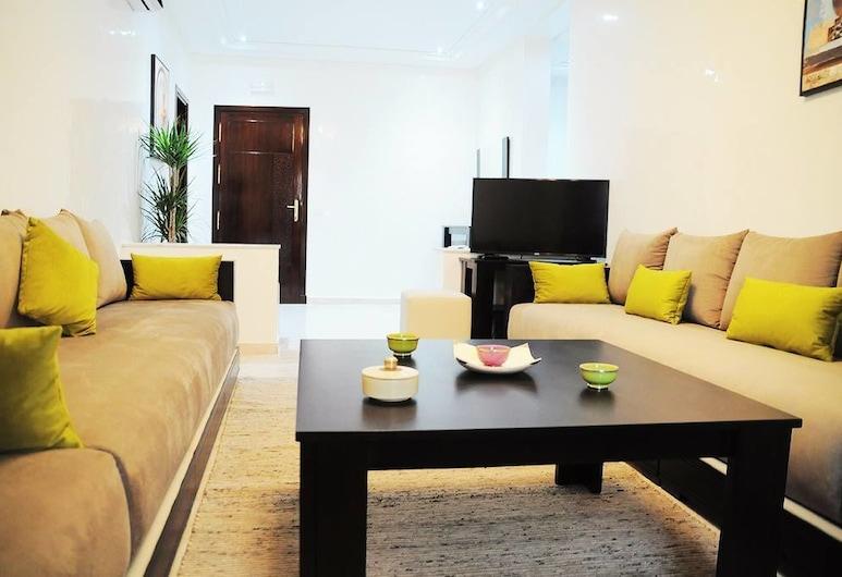Appart-Hotel Rania , Танжер, Апартаменты, 2 спальни, Гостиная