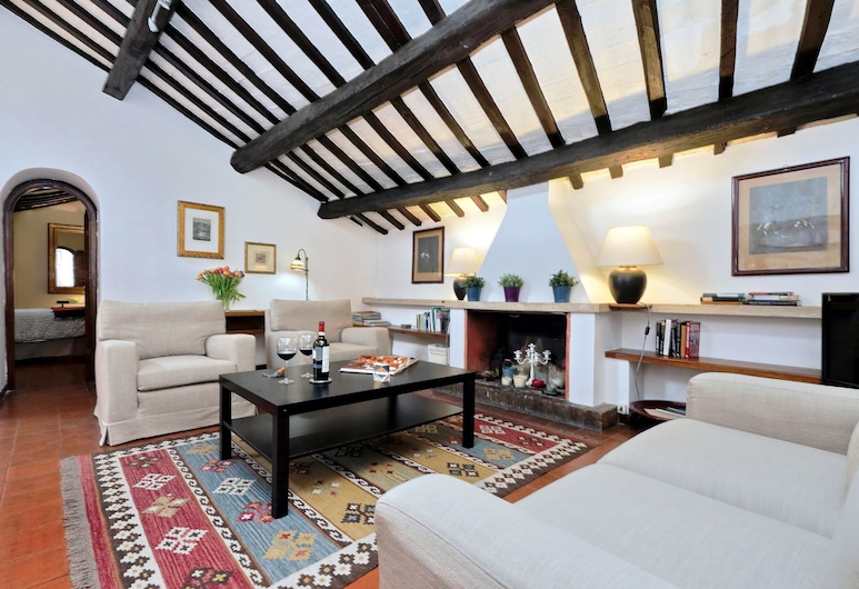 Rome, Trastevere, Lovely Apartment, Available on Request for Long Stays, Rome, 客廳