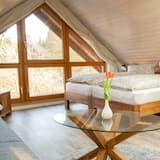 Appartement Deluxe, salle de bains privée, vue jardin (Dachgeschoss) - Chambre