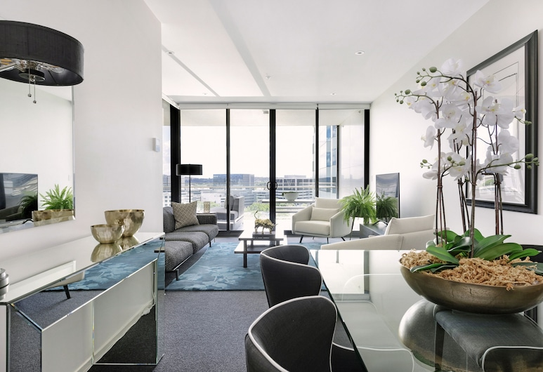 Birch Apartments, Canberra, Luxury Apartment, 1 Bedroom, City View (Upper East Side), Living Room