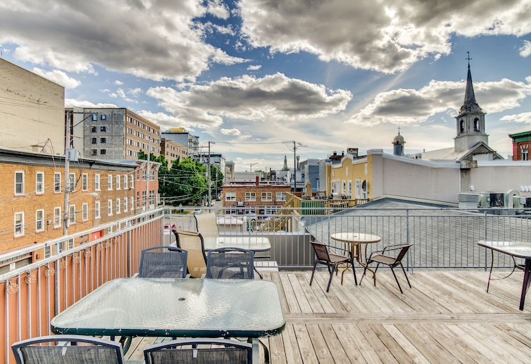 Cafe & Chill appartement, Quebec, Terraço/Pátio Interior