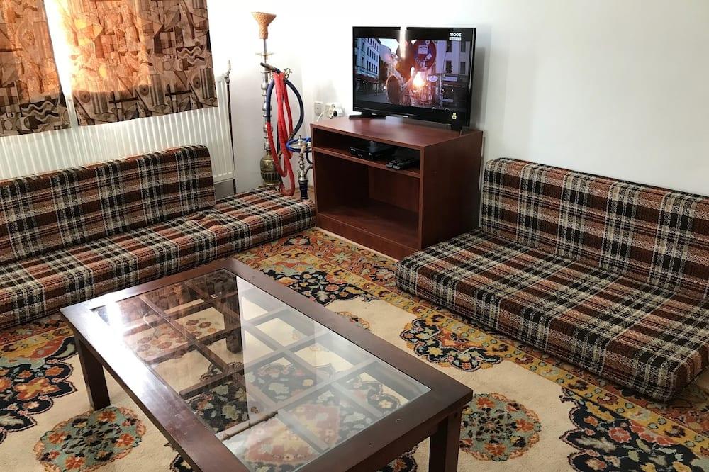 Žemesnės liukso klasės vienvietis kambarys, 1 viengulė lova - Svetainės zona