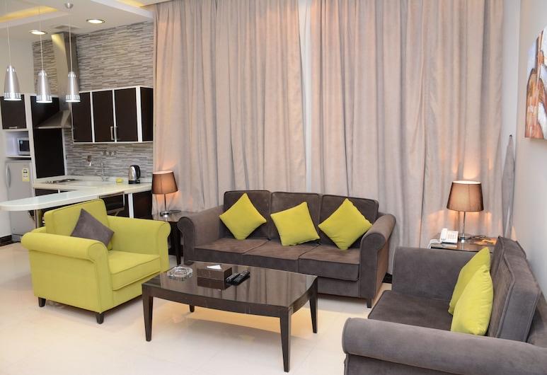 topaz suites, Riad, Deluxe-Suite, Whirlpool, Wohnzimmer