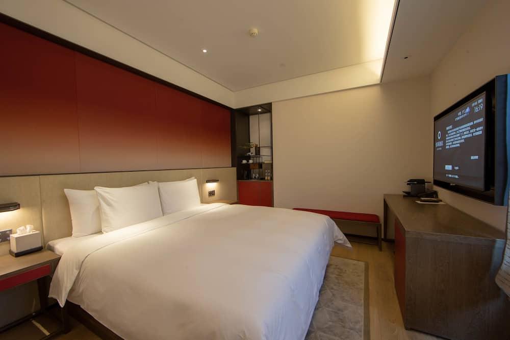Habitación doble superior, 1 cama King size, vista a la ciudad - Sala de estar