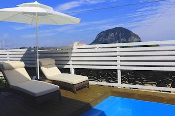 西歸浦吉普游泳池別墅飯店的相片