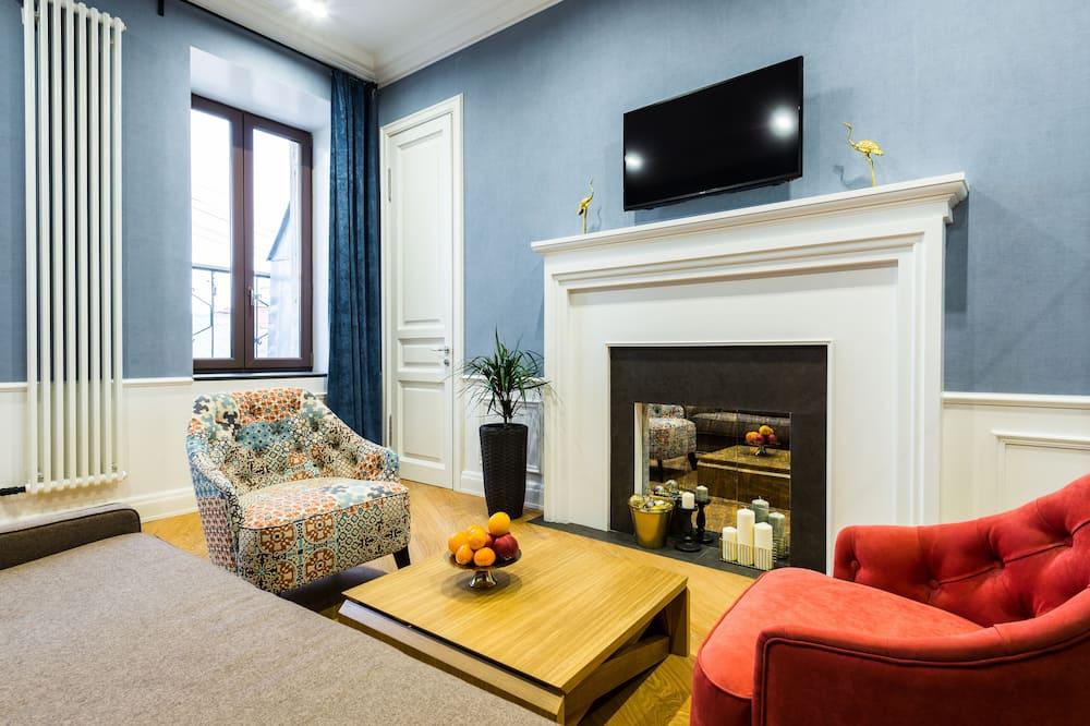 דירה, חדר שינה אחד, מרפסת, נוף לעיר - סלון