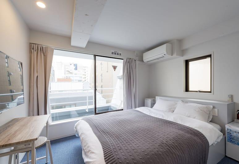 &AND HOSTEL KANDA, Tokio, Habitación doble de lujo, 1 cama matrimonial, baño compartido, Habitación