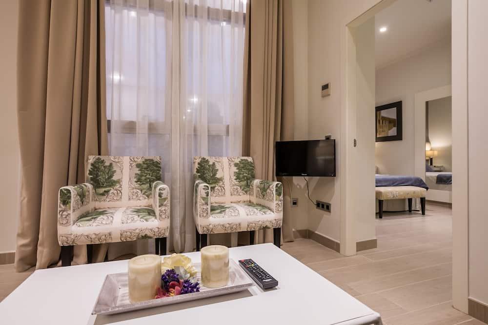 Apartment, 1 Bedroom, 2 Bathrooms (0A) - Living Area