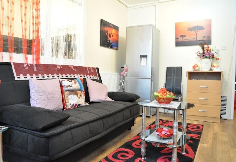 น่าทึ่ง 1 เตียงในย่านเพคแฮมอินเทรนด์, ลอนดอน, อพาร์ทเมนท์, 1 ห้องนอน, ห้องนั่งเล่น
