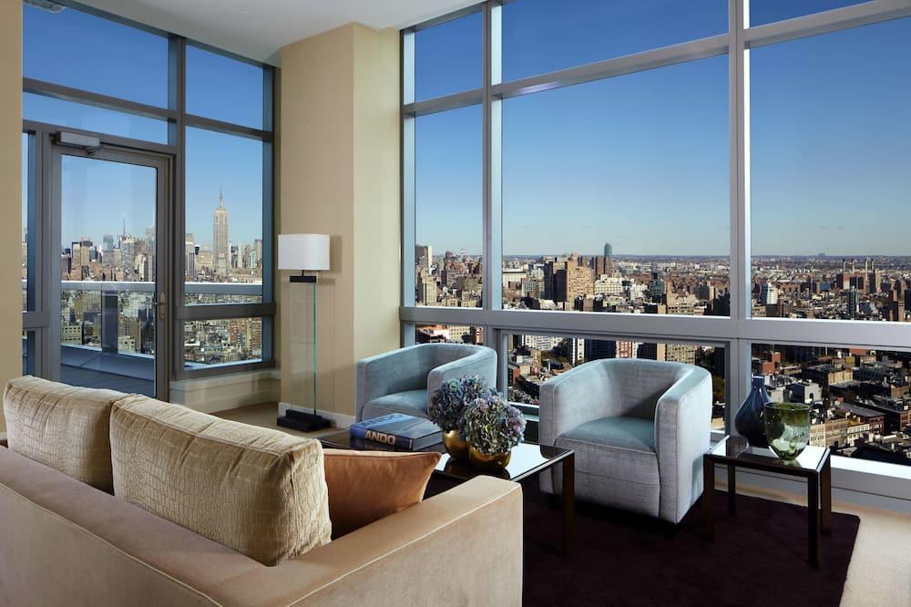 Penthouse, 2 chambres - Coin séjour