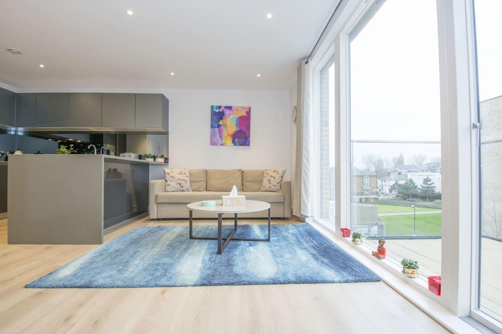 Lägenhet Royal - 2 sovrum - utsikt mot staden (12 Easton) - Vardagsrum