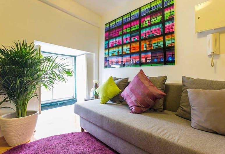Contemporary by Apartments Alfama, Lizbona, Apartament, 1 sypialnia, widok na miasto, Salon