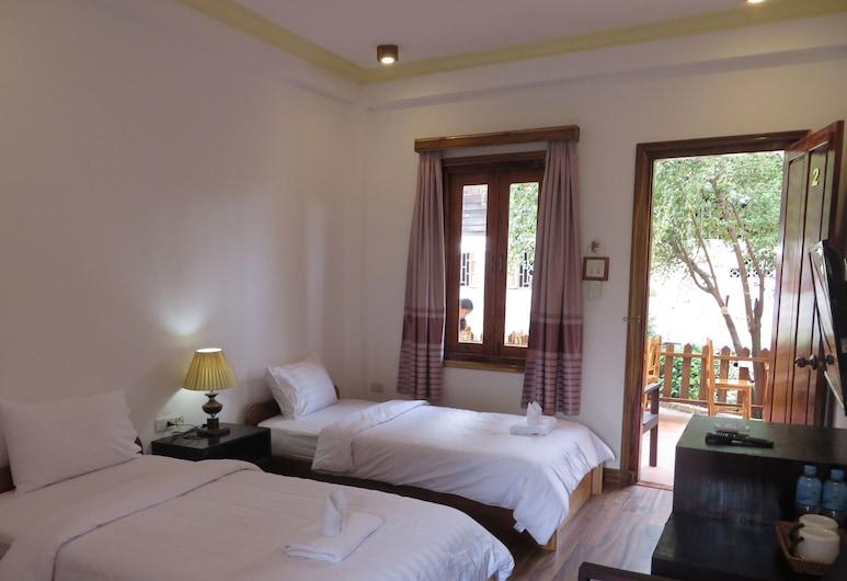 Villa Namkhan River, Luang Prabang, Standardværelse med 2 enkeltsenge, Værelse