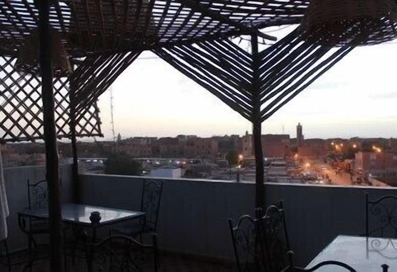 Hotel Panorama, Rissani, Terassi/patio