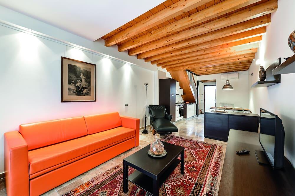 Apartamento, 1 habitación, terraza - Zona de estar
