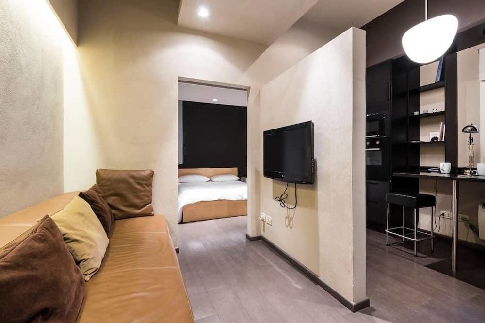 Апартаменты, кухня - Зона гостиной