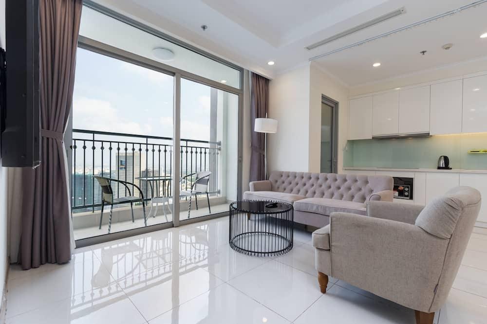 Standard apartman, kilátással a városra - Nappali rész