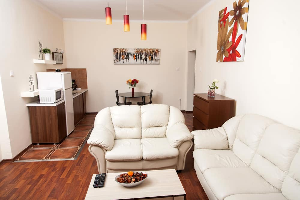 Comfort Apartment, 1 Bedroom, City View - Living Room