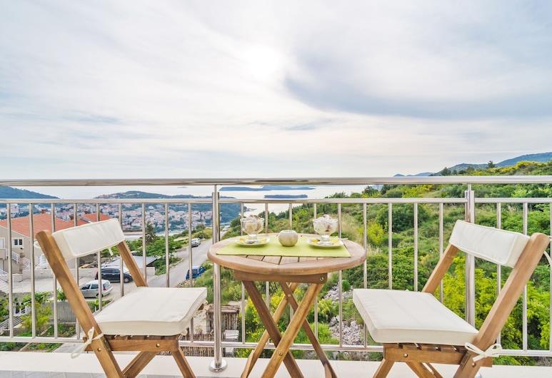 Apartments Villa Dadic, Dubrovnik, Apartamento conforto, 1 quarto, Sacada, Vista para o mar, Varanda