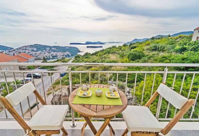 Apartments Villa Dadic, Dubrovnik, Apartamento conforto, 1 quarto, Sacada, Vista para o mar, Vista do quarto