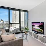 شقة تنفيذية - غرفة نوم واحدة - بمطبخ - منظر للمدينة - الصورة الأساسية