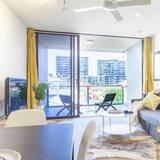 Appartamento Executive, 2 camere da letto, cucina, vista città - Soggiorno