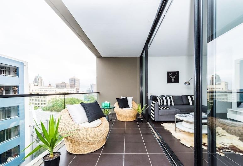 Executive Two Bed Penthouse Studio in the City, Surry Hills, Apartamento ejecutivo, 1 habitación, cocina, vistas a la ciudad, Balcón
