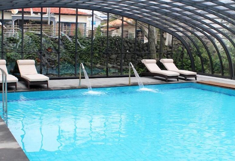The Blue Jeju Guesthouse - Hostel, Согвипхо, Закрытый бассейн