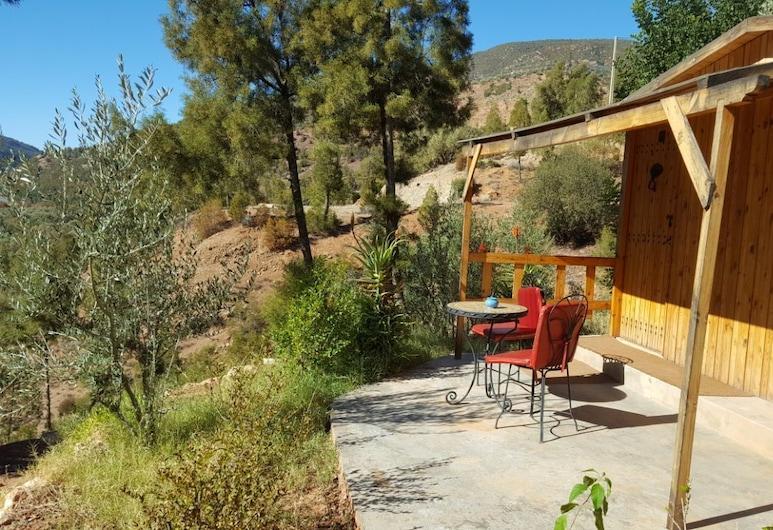 Dar Eau Vive, Bine el Ouidane, Comfort bungalov, 1 spavaća soba, hladnjak, pogled na jezero, Terasa/trijem