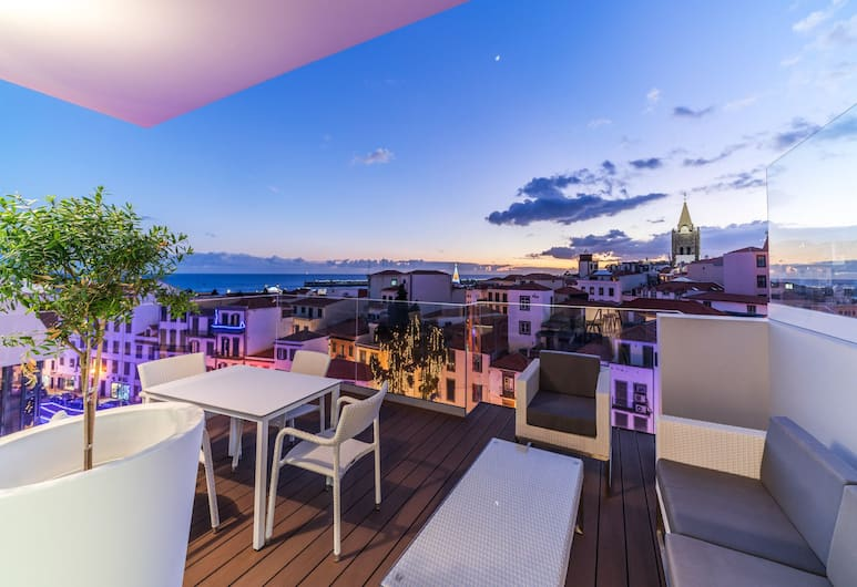 法亞出租馬德拉旅遊者飯店, 芳夏爾, 都會頂樓客房, 1 間臥室, 露台, 海景, 露台