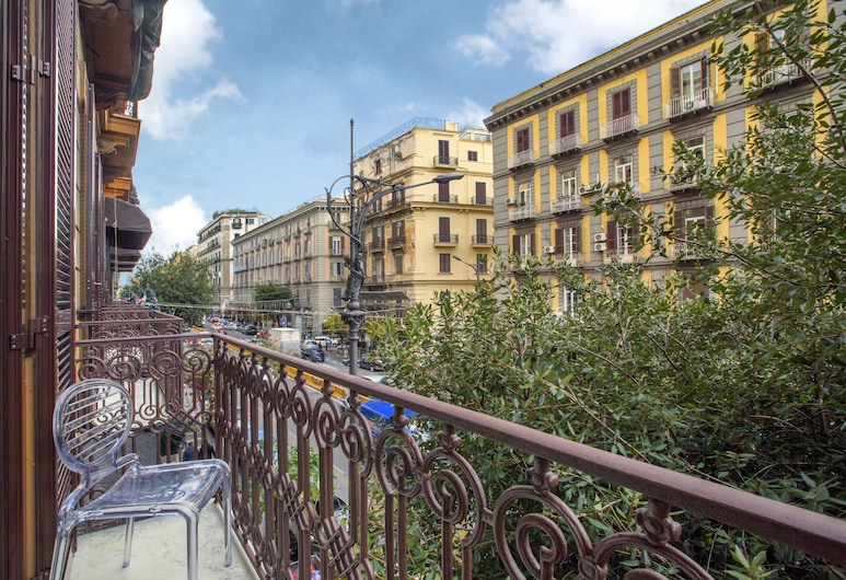 La Fontanina Suites, Napoli, Dobbeltrom – standard, utsikt mot byen, Balkong