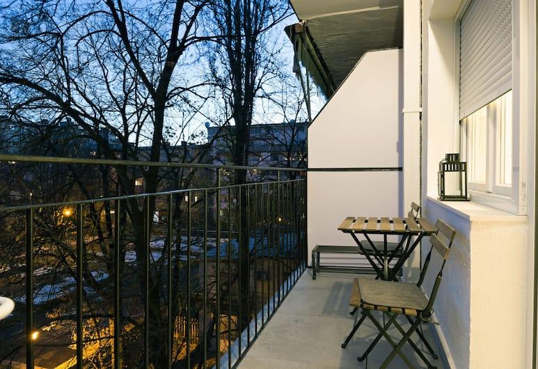 Belgrade Center Apartment, Belgrad, Deluxe-Apartment, 1 Schlafzimmer, Balkon, Parkblick, Balkon