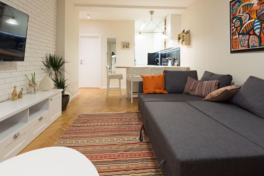 Deluxe-lejlighed - 1 soveværelse - balkon - parkudsigt - Stue
