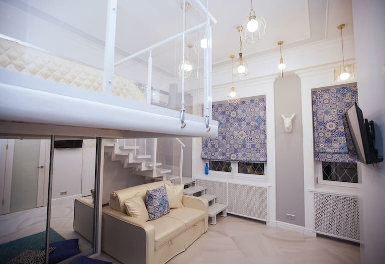 Kvart Apartment Dobryninskaya with sauna, Moskwa, Studio Deluxe, Pokój