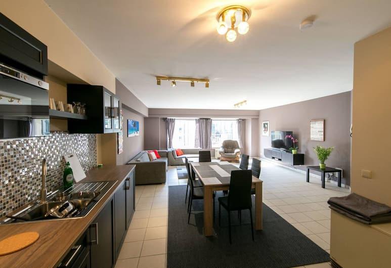 Renovated Apartment in Antwerp, Antwerp, BEAUTIFUL TWO BEDROOM APARTMENT (3C), Oturma Alanı