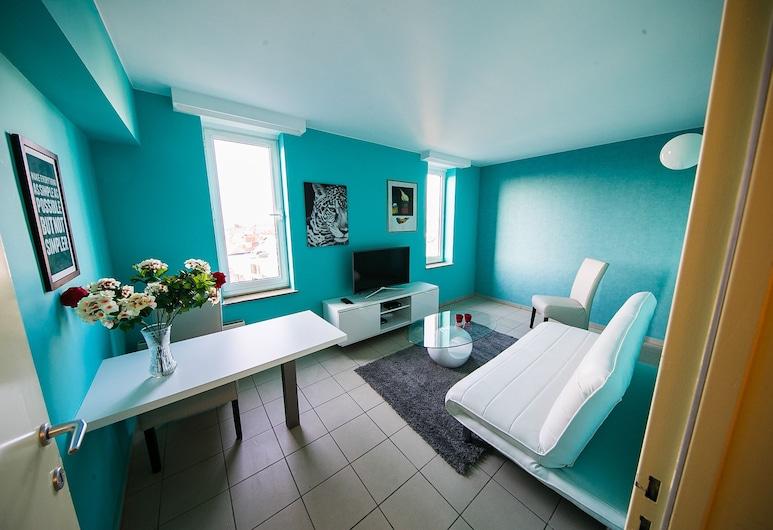 Renovated Apartment in Antwerp, Antwerpen, TURQUOISE COZY FUN APARTMENT (7A), Vardagsrum