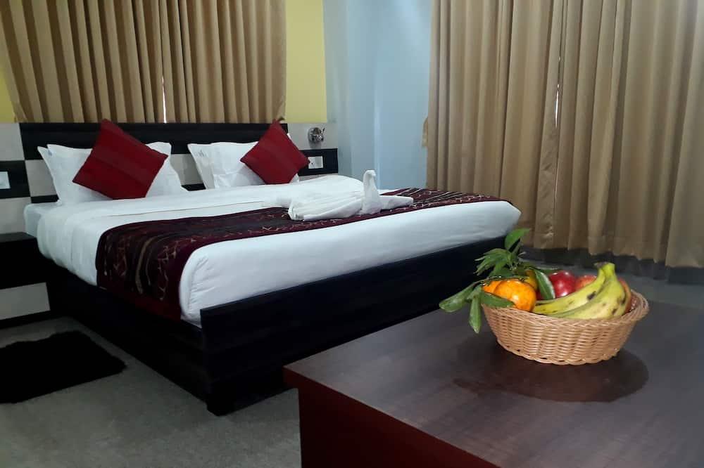 都會套房, 1 張特大雙人床, 城市景 - 客廳