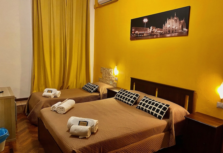 Hotel Carlo Goldoni, Milan, Standard Twin Room, 2 Twin Beds, City View, Guest Room