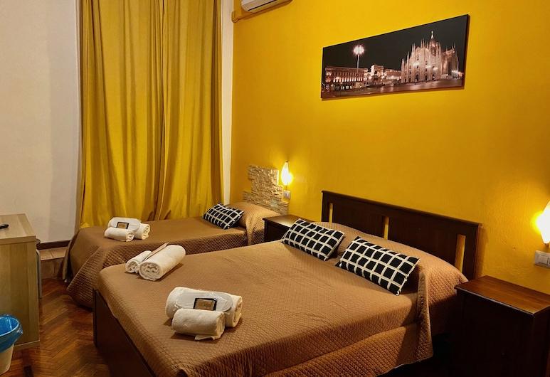 Hotel Carlo Goldoni, Milaan, Standaard Twin kamer, 2 eenpersoonsbedden, Uitzicht op de stad, Kamer