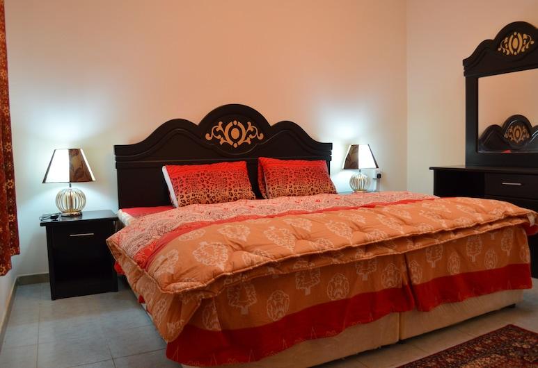 Al Eairy Apartments - Al Riyad 4, Rijád, Pokoj Basic s dvojlůžkem pro 1 osobu, dvojlůžko, Stravování na pokoji