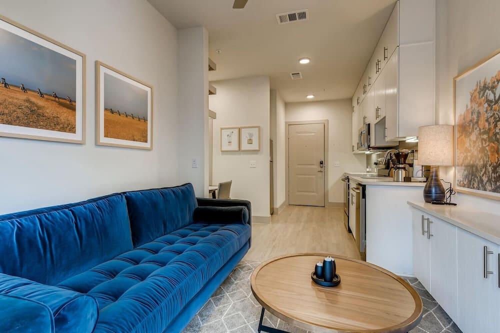 Leilighet, 1 soverom, ikke-røyk, kjøkken - Oppholdsområde