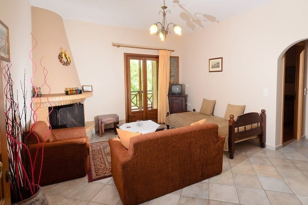 Deluxe Double Room, Fireplace, Mountain View - Living Room