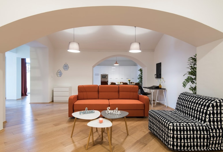 Rehorova Apartments, Praga, Apartamento, 4 quartos, Área de estar