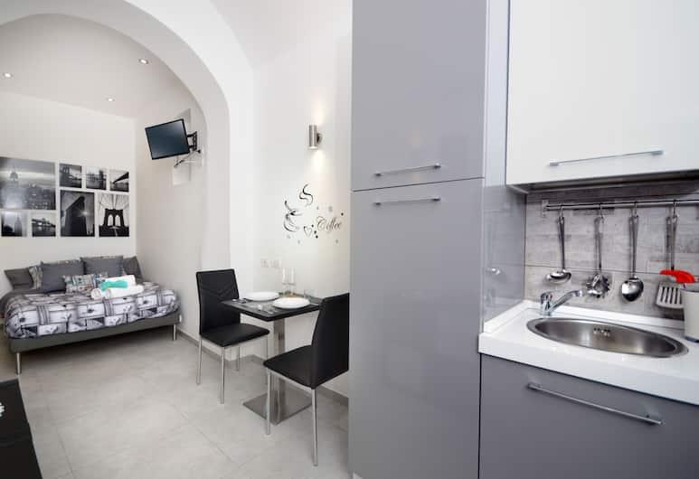 亞力山德拉尊爵公寓酒店, 那不勒斯, 時尚公寓, 1 張加大雙人床, 客廳