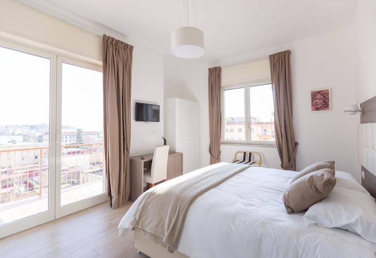 梅爾蓋利納羅萊豪華民宿, 那不勒斯, 全景雙人房, 1 張特大雙人床, 露台, 海景, 客房