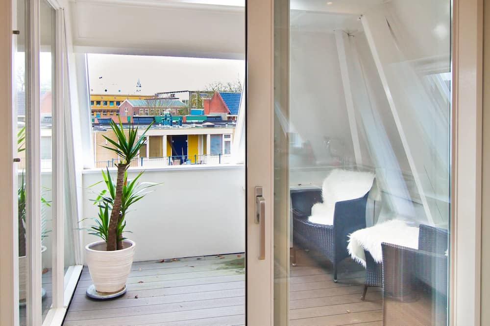 Mansarda mieste, 1 miegamasis, vaizdas į miestą - Balkonas